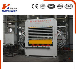 China Hydraulic Melamine Plywood Hot Press Machine 25KW Automatic Feeding supplier