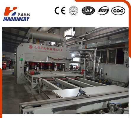 China 5'X9' Auto Short Cycle Laminate Hot Press Machine For Decorative Board factory