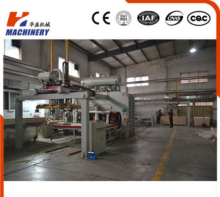 China Semi Auto Short Cycle Hydraulic Hot Press Machine Manufacturers For Plywood Board 7'X9' factory
