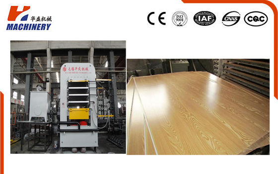 High Speed Hydraulic Door Press Machine / Automatic Wood Door Press Machine