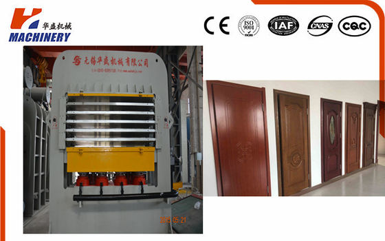 China Embossed Door Skin Hydraulic Hot Press Machine  programmable PLC Controlled factory